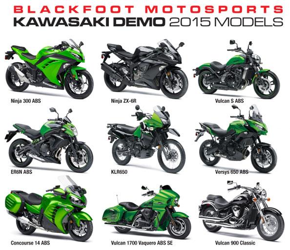 2015 Kawasaki demo models