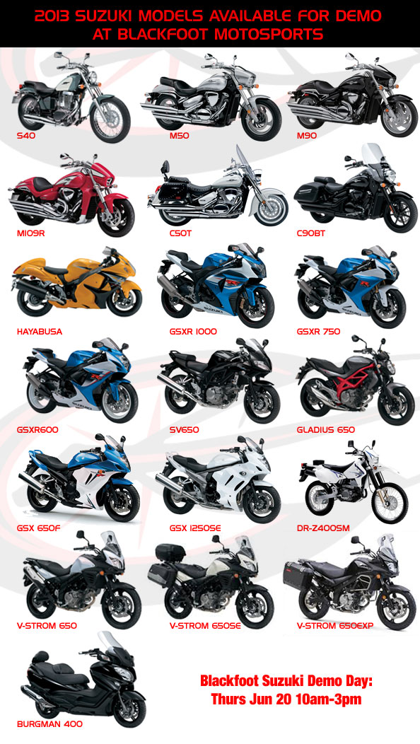 Suzuki Demo Day Models Photo